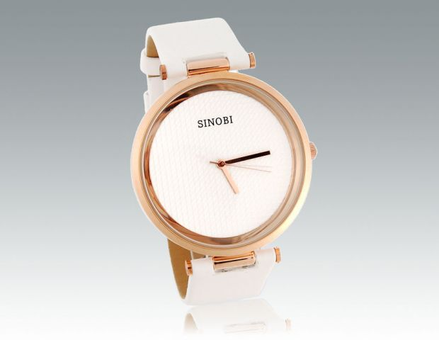 Dámské hodinky Sinobi Round bílé eee7e07fc9