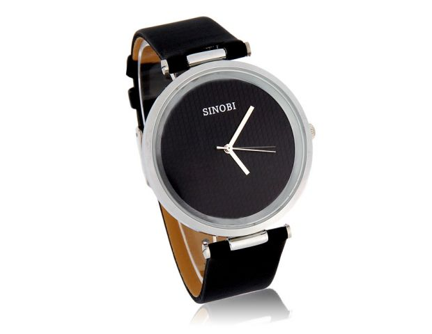 Dámské hodinky Sinobi Round černé b14aaea4502
