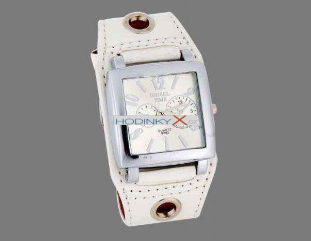 DIESEL Hodinky Unisex Style bílé 0484e5cec06