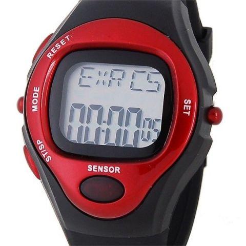 c9d63ee76c1 Digitální hodinky Anike s měřením tepu červené