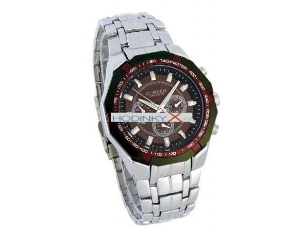 Pánské hodinky CURREN Master hnědé 6c00cc0a78