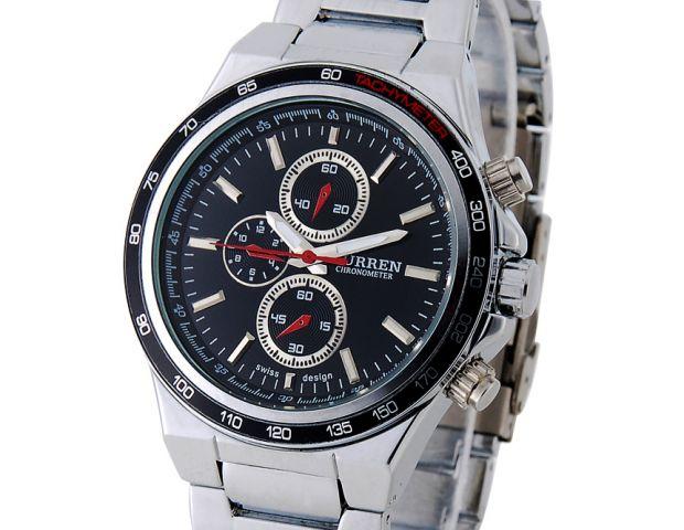 Pánské hodinky CURREN Stainless black 21794da603
