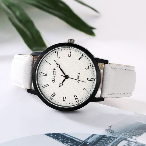 Unisex hodinky Gaiety Fashion bílé 2e341720ae0