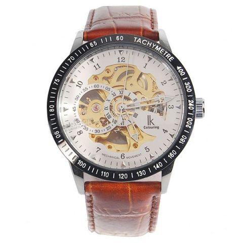 Pánské hodinky Luxury Ik Automatic bílo-zlaté a745b02d9fc
