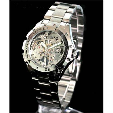 Unisex mechanické hodinky IK sříbrné 2618ea9702