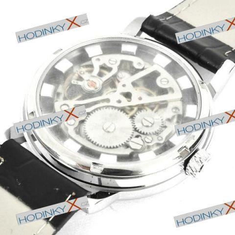 15e15c830ba Mechanické Automaty Stylish Skeleton stříbrné